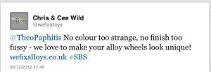 SBS winning tweet