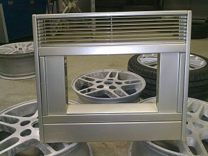 Fire surround - custom powder coat by We Fix Alloys