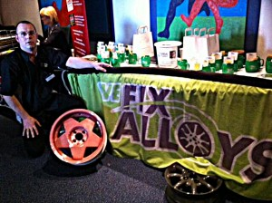 Alloy wheel repair at NE Expo